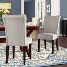Three Posts Lancaster Upholstered Dining Chair (Set of , Solid Wood Dining Chairs, Upholstered Dining Chairs, Dining Chair Set, Dining Table, Bar Chairs, Side Chairs, Living Room Furniture, Home Furniture, Montana Furniture