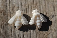 Hand-carved Bee bone by RileyDoRight on Etsy