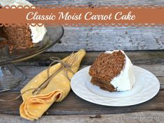 Classic Moist Carrot Cake by Food Storage Moms