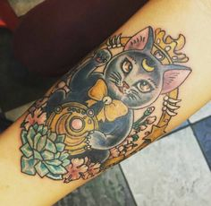 This tattoo of Luna looking like a goddess: