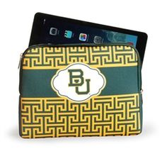 #Baylor iPad or other tablet sleeve in Greek Key design with college logo www.desden.com  $24 Sic 'Em Bears!