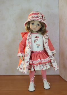 "The dress for a doll Дианна Effner Little Darling 13"". doll clothes, dress"