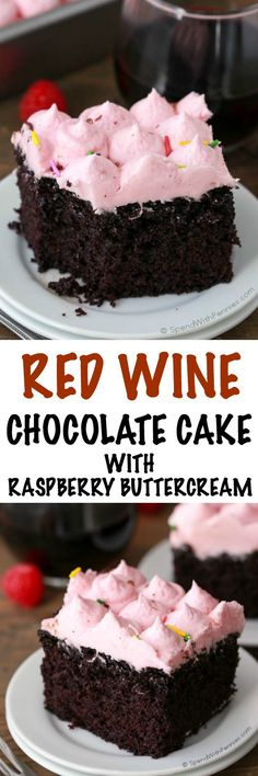 Red Wine Cake is one of those desserts that is almost too good to be true! It combines a scrumptious moist chocolate cake with sweet red wine. The raspberry buttercream icing takes the cake to a whole new level of decadence that you won't want to miss!