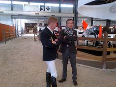 Marcus Ehning et Henk Nooren dans le paddock ! Quand l'excellence se rencontre...