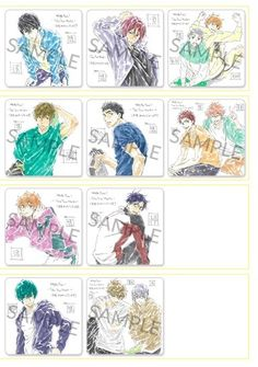 Free! Take Your Marks movie coasters illustrations