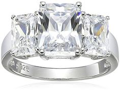 Platinum-Plated Sterling Silver and Cubic Zirconia Emerald-Cut Ring ** Check out @ http://www.ilikeboutique.com/boutique/platinum-plated-sterling-silver-and-cubic-zirconia-emerald-cut-ring/?xy=010716072700