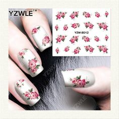 YZWLE 1 Sheet DIY Designer Water Transfer Nails Art Sticker / Nail Water Decals / Nail Stickers Accessories (YZW-8012)