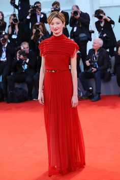 """Alba Rohrwacher in Valentino Fall 2015 Couture at the Venice Film Festival Premiere of """"Blood of my Blood"""""""