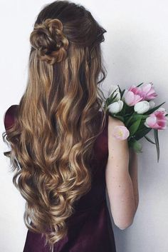 Romantic Updo with Curls on Oleksa Stasevych.z ♥ Sasha is wearing Dirty Blonde… - Hair Style Romantic Updo, Wedding Hair Down, Wedding Hairstyles For Long Hair, Bridal Hairstyles, Homecoming Hairstyles Down, Homecoming Hair Down, Long Prom Hair, Curled Hair For Prom, Hair Down For Prom