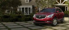 2016 Buick Enclave in Crimson Red Tintcoat.
