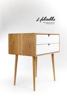 Mid-Century Scandinavian Side Table / Nightstand / by Habitables