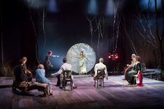 Set for Chekhov's THE SEAGULL, National Theatre, 2016