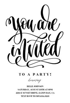 You Are Invited printable invitation template. Customize, add text and photos.  Print, download, send online or order printed!  #invitations #printable #diy #template #party