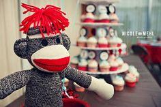 Design Dazzle: Sock Monkey: Baby Shower & Birthday Party Ideas
