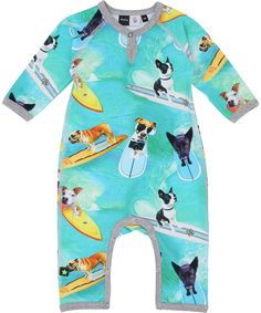 Molo super cool surf dog printed playsuit. molo.en.emilea.be