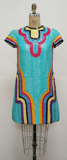 Dress Attributed to Chloé (French, founded 1952) Date: 1967 Culture: French Medium: synthetic