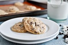 mini coconut chocolate chip cookies--you use coconut oil instead of butter!