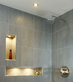Penthouse - Milltown | RK Designs Penthouse Apartment, Living Area, Shelving, Tile Floor, Custom Design, Flooring, Contemporary, Interior Design, Bathroom