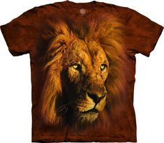 NEW BIG FACE ROARING LION Brown Fierce Mane The Mountain T Shirt Adult Sizes