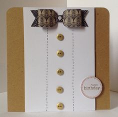 Craftwork Cards Paper Bows Pad Vogue/Monochrome.  Card designed by Julie Hickey