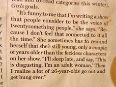 Lena Dunham quote {pinned from thewanderita.com}