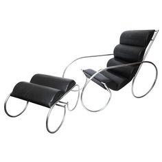 1stdibs | An American Modernist Lounge Chair and Ottoman