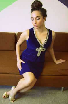 HEARTBREAKER Vintage 1960s BLUE VELVET Mod Dress by VintageBeats, $75.00