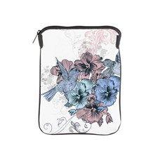 Vintage Floral and Hummingbirds iPad Sleeve for Ipad 1 Case, Tablet Cover, Ipad Sleeve, Hummingbirds, Vintage Floral, Gadgets, Design, Decor, Decoration