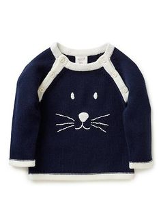 Baby Clothes Knitwear & Jumpers | Nb Bunny Face Jumper | Seed Heritage