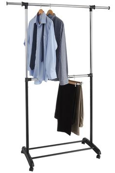 Target Clothes Hangers Endearing Extendable Double Garment Rack  Garment Racks Steel Racks And Target Inspiration