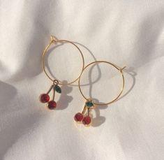 Triple Hoop earrings in Gold fill, large gold hoop earrings, hammered hoop earrings, delicate hoop earrings, 2 inch hoop earrings - Fine Jewelry Ideas Tiny Stud Earrings, Black Earrings, Cute Earrings, Gold Hoop Earrings, Crystal Earrings, Dangle Earrings, Cherry Earrings, Flower Earrings, Mode Collage