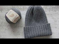 Вяжем шапку резинкой 2:2. Как закрыть макушку - YouTube