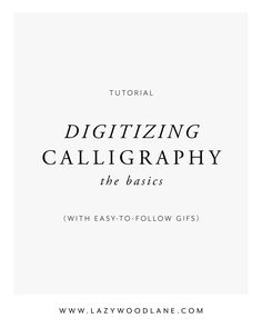 The exact method I use to digitize my calligraphy quickly and easily. I can  walk through these steps in less than 2 minutes, so I know that you can,  too.