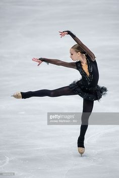 Alisa Lozko of Russia competes during the junior ladies short program on day one of the ISU Junior Grand Prix of Figure Skating on September 1, 2016 in Ostrava, Czech Republic.