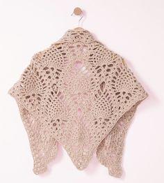 Un chèche au crochet - Knitting And Crocheting Poncho Crochet, Patron Crochet, Bonnet Crochet, Pull Crochet, Crochet Shawls And Wraps, Crochet Amigurumi, Crochet Slippers, Diy Crochet, Crochet Bikini