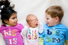 Lil Sis / Bro Onesie Hand Applique For the new by mylittlelegacies,