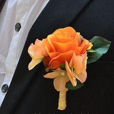 Party Silk Gewebe Künstliche Rosen Blume Im Knopfloch Des Bräutigams Hochzeits Dekoration Mann Klage Corsage Blume Im Knopfloch Orange