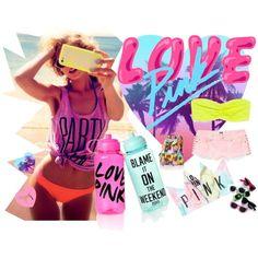 """Sweet Sunshine Fun time <3"" by littleslonecker on Polyvore    #PINK   #Love  #Bikini  #SpringBreak  #Victoriassecret"