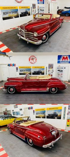 1947 Plymouth Special Deluxe Convertible Street Rod ZZ4 Crate Motor Gm Crate Motors, Street Rods, Custom Leather, Leather Interior, Plymouth, Cars For Sale, Hot Rods, Crates, Convertible
