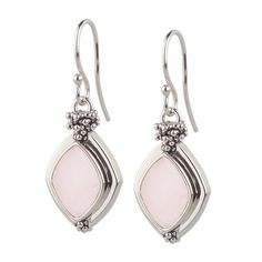 Michael Dawkins Sterling Silver Pink Mother of Pearl & Rondel Earrings K914