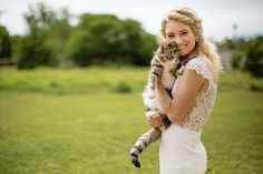 Bride with Cat Portrait