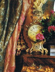 French Interiors, love the texture of drapes