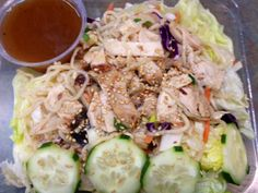 Chinese Chicken Salad with Noodles  http://DiggersDeli.com