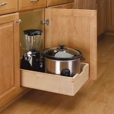 Rev-A-Shelf Medium Wood Pull-out Cabinet Drawer (Medium Pull Out Wood Drawer), Brown