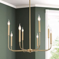 Glam Flush Mount Ceilling Lighting Chandelier for Kitchen Island – (Less than 60 Watts), Gold Wagon Wheel Chandelier, Candle Chandelier, Chandelier Lighting, House Lighting, Kitchen Island Chandelier, Classic Candles, World Decor, Contemporary Chandelier, Chandeliers Modern