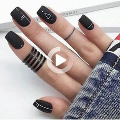 Have you heard of the idea of minimalist nail art designs? These nail designs are simple and beautiful. You need to make an art on your finger, whether it& simple or fancy nail art, it looks good. Of course, you may have seen many simple and beaut Purple Nail, Matte Black Nails, Black Nail Art, Black Polish, Pink, Black Nail Designs, Simple Nail Designs, Acrylic Nail Designs, Minimalist Nails
