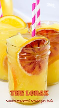 orange lemonade party drink for kids Easy Mocktail Recipes, Drinks Alcohol Recipes, Alcoholic Drinks, Drink Recipes, Beverages, Easy Recipes, Cocktails, Kid Drinks, Fancy Drinks