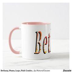 Bethany, Name, Logo, Pink Combo Coffee Mug. Mug