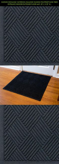 """Hudson Exchange Waterhog Diamond Fashion Polypropylene Fiber Entrance Indoor/Outdoor Floor Mat, 35"""" L x 35"""" W, 3/8"""" Thick, Charcoal #plans #camera #technology #products #tech #parts #gadgets #fpv #racing #kit #mat #outdoor #drone #cooking #shopping"""