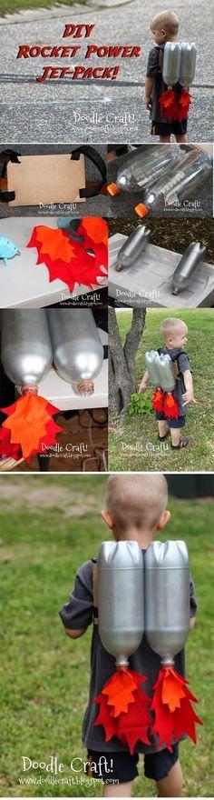 Looks like so much fun! #DIY Plastic Bottle Rocket Power Jet-Pack #kids #funactivities